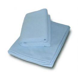 36 Units of Jersey Fleece Baby Blanket -Baby Blue - Fleece & Sherpa Blankets