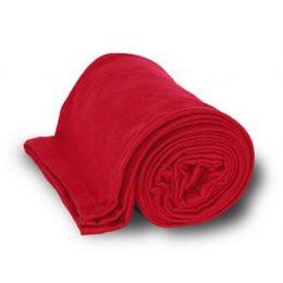 24 Units of Jersey Fleece Throws / Blankets - Red - Fleece & Sherpa Blankets