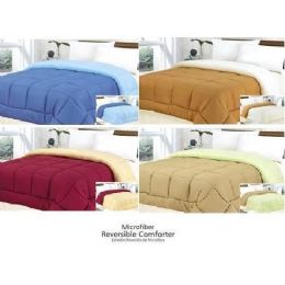 18 Units of 1 Pc Microfiber Reversible Comforter - Queen - Blankets & Bedding