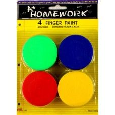48 Units of Finger Paints - Assorted Colors - 4 pack - Paint, Brushes & Finger Paint