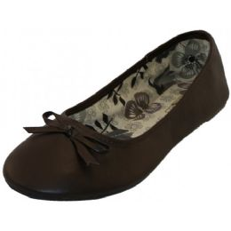 18 Units of Women's Ballet Flats ( Dark Brown Color Only) - Women's Flats
