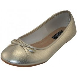 18 Units of Women's Ballet Flats Metallic Gold Only - Women's Flats