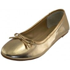 18 Units of Women's Ballet Flats Gold Color Only - Women's Flats