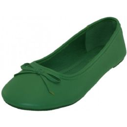 18 Units of Women's Ballet Flats Green Color Only - Women's Flats