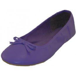 18 Units of Women's Ballet Flats Purple Color Only - Women's Flats