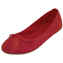 18 Units of Wholesale Women's Ballet Flats Red Color Only - Women's Flats