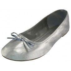 18 Units of Women's Ballet Flats Metallic Silver - Women's Flats