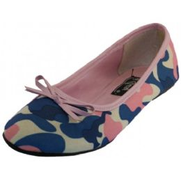 18 Units of Ladies' Camouflage Ballerina Shoe ( Pink Color Only) - Women's Flats