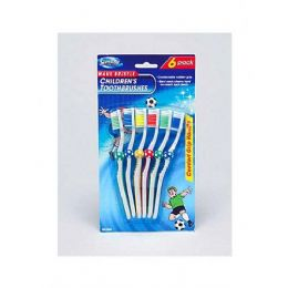 72 Units of 6PC SOCCER TOOTHBRUSH - Toothbrushes and Toothpaste