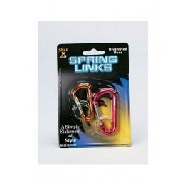 72 Units of 2 Pack Spring Links (assorted Colors) - Key Chains