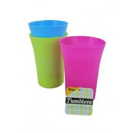 72 Units of 3 Pc Tumblers - Plastic Drinkware