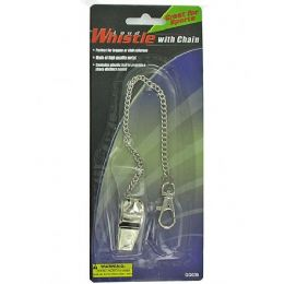 108 Units of Whistle With Chain - Sporting and Outdoors