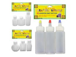 72 Units of Craft Bottles 3 Pack - Craft Container and Storage
