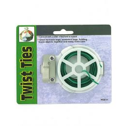 72 Units of Twist ties with reel - GARDEN CLEANUP AIDES