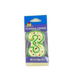 72 Units of 3RD BDAY CANDLE WM1045 X1 - Birthday Candles