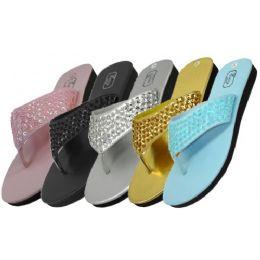 36 Units of Women's Sequin Flip Flops - Women's Flip Flops