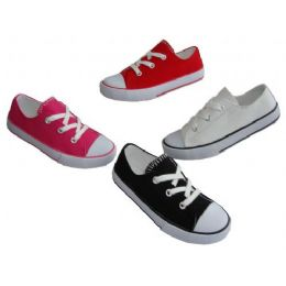 24 Units of Toddler Low-Top Canvas Shoe - Toddler Footwear