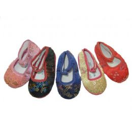 120 Units of Infants' Brocade Shoes - Toddler Footwear
