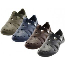30 Units of Men's Walking Light Weight Velcro Sandals ( *Asst. Black Navy Brown And Khaki ) - Men's Flip Flops and Sandals