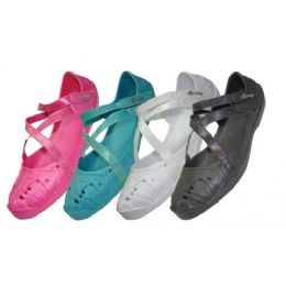 36 Units of Girls' Criss-Cross Solid Color Shoes - Girls Shoes