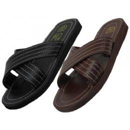60 Units of Men's Pu. Upper X-Band Slippers - Men's Flip Flops and Sandals