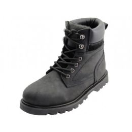 "12 Units of Men's ""Himalayans"" 6 Inches Nubuck Insulated Leather Upper With Steel Toe Work Boots ( - Men's Work Boots"