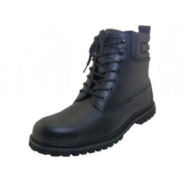 "12 Units of Men's ""Himalayans"" 6.5 Inches *Steel Toe Insulated Leather Upper Work Boots ( *Black Color ) - Men's Work Boots"