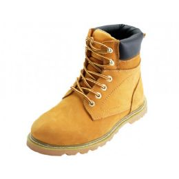 "12 Units of Men's ""Himalayans"" 6 Inches Nubuck Insulated Leather Upper Work Boots *Steel Toe ( *Tan Color ) - Men's Work Boots"