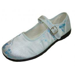 36 Units of Girl Brocade MaryJane Blue - Girls Shoes