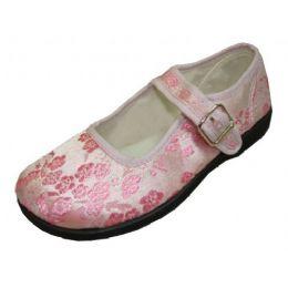 36 Units of Girl Brocade MaryJane Pink - Girls Shoes