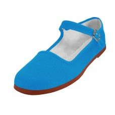 36 Units of Women's Classic Cotton Mary Jane Shoes ( Turquoise Color Only) - Women's Flats