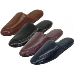 48 Units of Men's Soft Vinyl Upper Close toe Open Back House Slippers - Men's Slippers