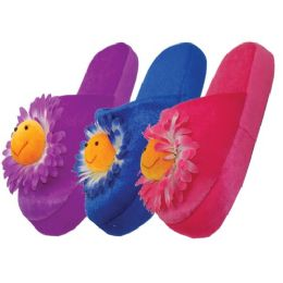 36 Units of Women's Daisy Plush Slippers - Women's Slippers