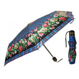 60 Units of 37 Inches Super Mini Tri-Fold Flower Print Umbrella - Umbrellas & Rain Gear