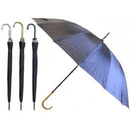 60 Units of 48'' Diameter 16 Ribs Auto Open Jumbo Umbrella - Umbrellas & Rain Gear