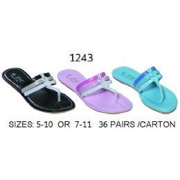 36 Units of Ladies Two Tone Sandal - Women's Sandals