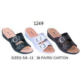 36 Units of Ladies Sandal With Two Buckle - Women's Sandals