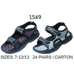 24 Units of Mens Sandal With Strap - Men's Flip Flops and Sandals