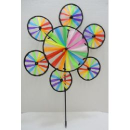 120 Units of Wind Spinner-7 Rainbow Circles - Wind Spinners