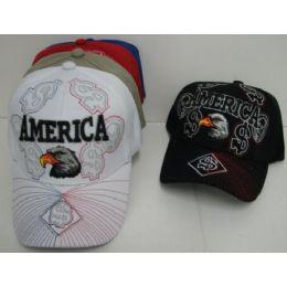 48 Units of America Eagle Hat - Baseball Caps & Snap Backs