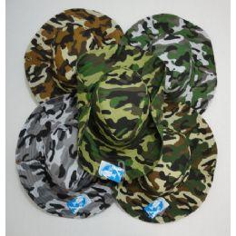 24 Units of Men's Camouflage Boonie Hat - Cowboy & Boonie Hat