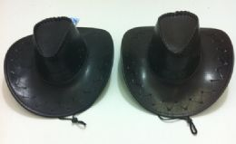 24 Units of Leather-Like Cowboy Hat - Cowboy & Boonie Hat
