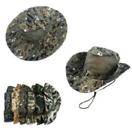 24 Units of Assorted Camo Mesh Boonie Hat - Cowboy & Boonie Hat