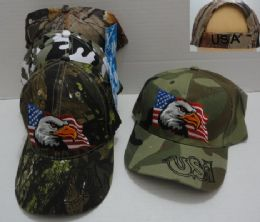 36 Units of Camo Eagle Hat - Hunting Caps