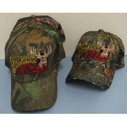 24 Units of Camo Outdoor Sportsman HaT-Deer - Hunting Caps