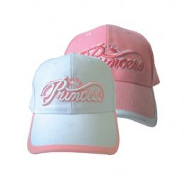 144 Units of Princess Girls Baseball Cap - Baseball Caps & Snap Backs