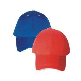144 Units of PLAIN BASEBALL CAP ASSORTED COLORS - Baseball Caps & Snap Backs