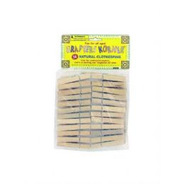 72 Units of 36 Pack natural wood craft clothespins - Clothes Pins