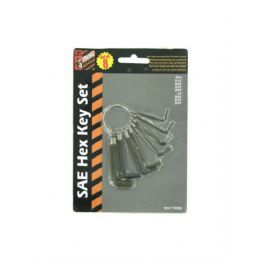 72 Units of 8 Pack Sae Hexagonal Key Set - Hex Keys
