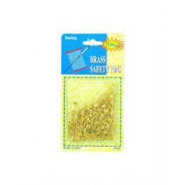 72 Units of Brass safety pins - Sewing Supplies